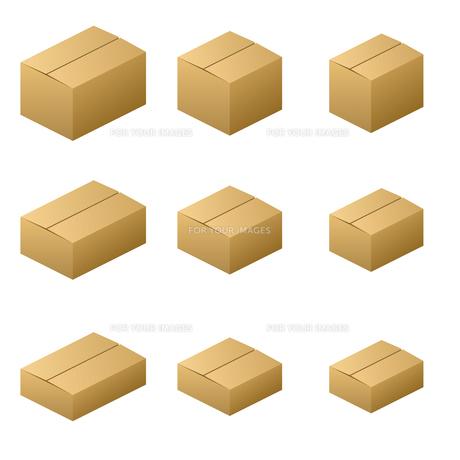 ダンボール箱 ノーマルタイプ サイズ9種類 茶色の写真素材 [FYI00322352]
