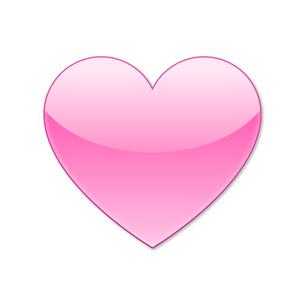 ハートアイコン ピンクの写真素材 [FYI00322353]