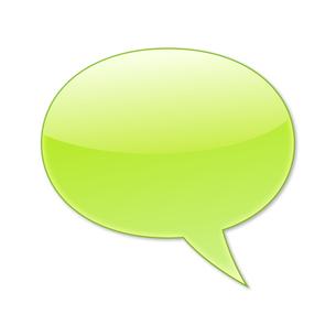 ふきだし 丸タイプ 右 (緑色)の写真素材 [FYI00322361]