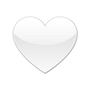ハートアイコン ホワイトの写真素材 [FYI00322373]