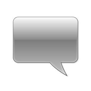 ふきだし 四角タイプ 右 (黒色)の写真素材 [FYI00322374]