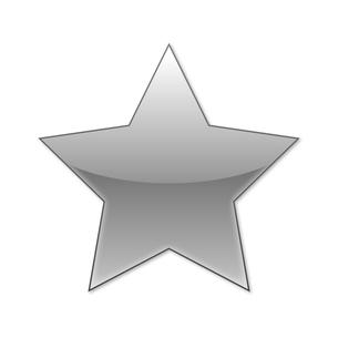 スターアイコン グレーブラックの写真素材 [FYI00322376]