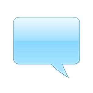 ふきだし 四角タイプ 右 (水色)の写真素材 [FYI00322381]