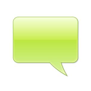 ふきだし 四角タイプ 右 (緑色)の写真素材 [FYI00322383]