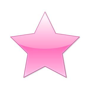 スターアイコン ピンクの写真素材 [FYI00322384]