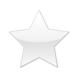 スターアイコン ホワイトの写真素材 [FYI00322387]