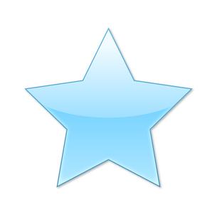スターアイコン ライトブルーの写真素材 [FYI00322389]
