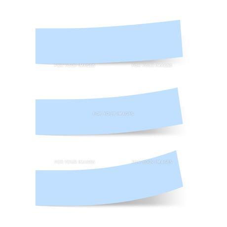 付箋紙 見出し ブルー(ベタ・単色)の写真素材 [FYI00322396]