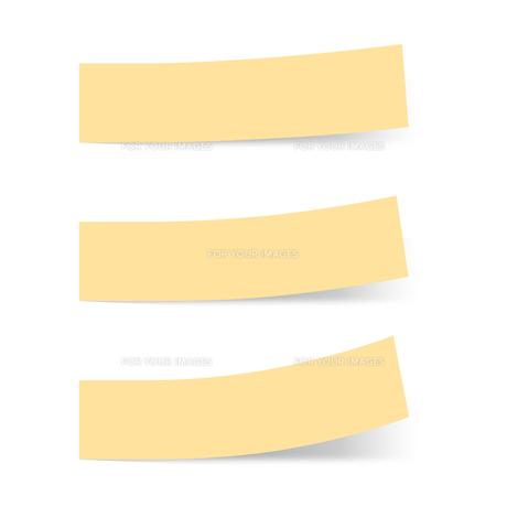 付箋紙 見出し オレンジ(ベタ・単色)の写真素材 [FYI00322398]
