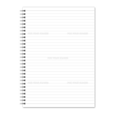 ノート 罫線(グレー) スプリングの素材 [FYI00322399]