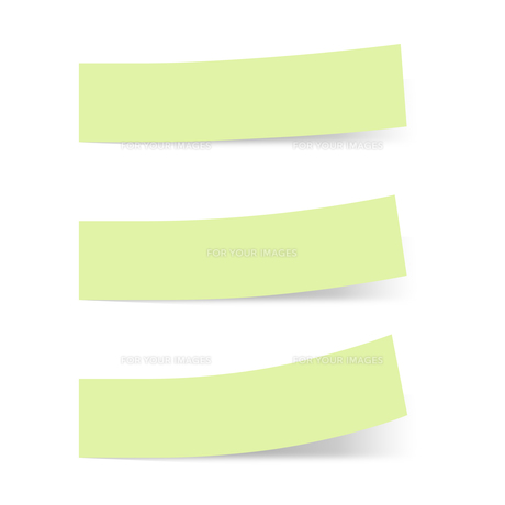 付箋紙 見出し グリーン(ベタ・単色)の写真素材 [FYI00322400]