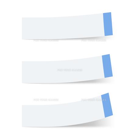 付箋紙 見出し ブルー(ベタ・フチ色あり)の写真素材 [FYI00322404]