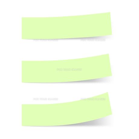 付箋紙 見出し ライトグリーン(ベタ・単色)の写真素材 [FYI00322409]