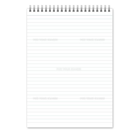 ノート(縦長) 罫線(ブルー)  スプリングの写真素材 [FYI00322410]