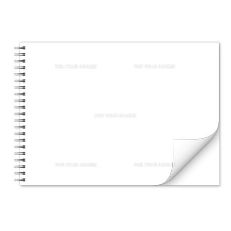 ノート(横長) 無地 スプリング めくれの写真素材 [FYI00322418]