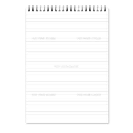 ノート(縦長) 罫線(グレー)  スプリングの写真素材 [FYI00322425]