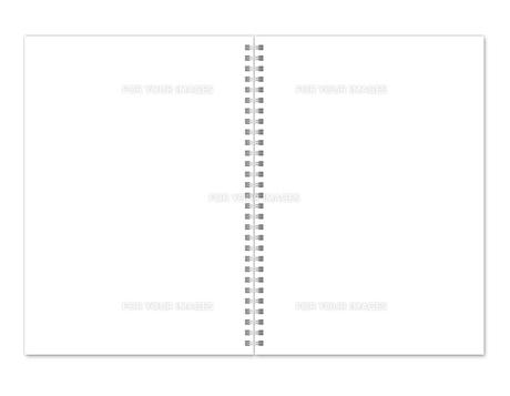ノート見開き 無地 スプリングの写真素材 [FYI00322428]