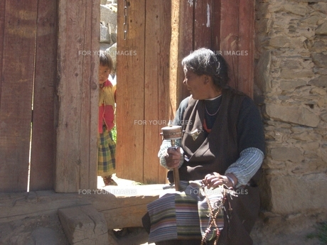 チベット人の写真素材 [FYI00322432]