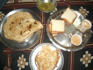 ダールバット、ネパールの食事の写真素材 [FYI00322449]