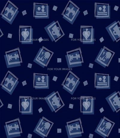 藍染めスタンプカードの写真素材 [FYI00322772]