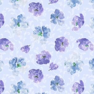 水彩の花と唐草1の写真素材 [FYI00322778]