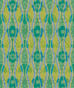 笹と梅と立涌模様の写真素材 [FYI00322792]