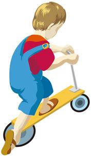スケーターに乗る少年の写真素材 [FYI00322834]