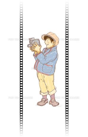 カメラを持つ少年の写真素材 [FYI00322839]