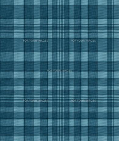 織物風、青いチェックの素材 [FYI00322842]