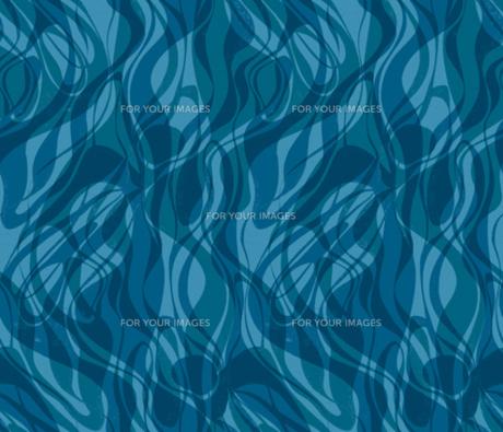 青い流水模様の素材 [FYI00322852]