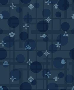 藍色の小紋、家紋の素材 [FYI00322856]