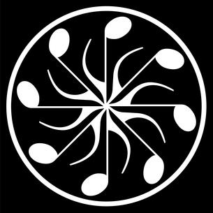 現代版家紋、音符の写真素材 [FYI00322886]