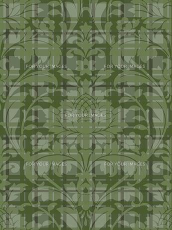 チェックとクラシックな壁紙の模様の素材 [FYI00322888]