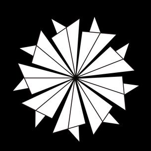 現代版家紋、紙飛行機の素材 [FYI00322892]