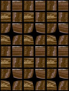 茶色のブロック模様の素材 [FYI00322902]