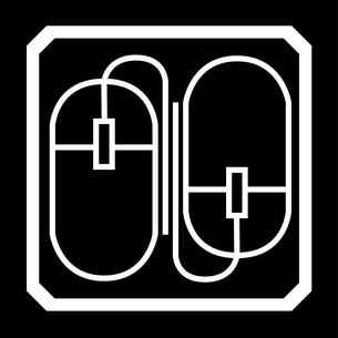 現代版家紋、双ねずみの写真素材 [FYI00322909]