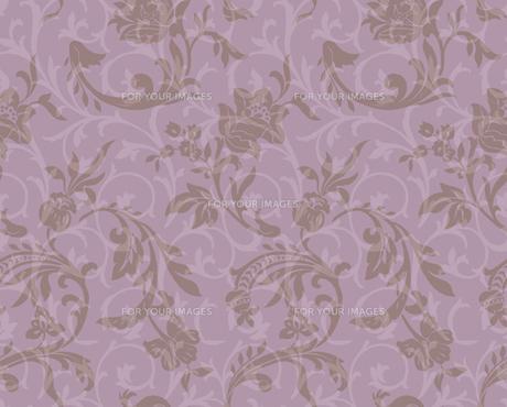 紫色の透明感のある唐草の素材 [FYI00322910]
