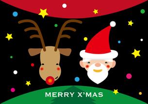 サンタとトナカイ クリスマスの素材 [FYI00322912]
