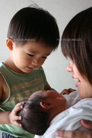 妹の誕生の写真素材 [FYI00322947]