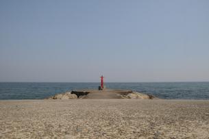 御幸の浜堤防の写真素材 [FYI00323526]