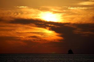 野母崎脇岬の夕日の素材 [FYI00323550]