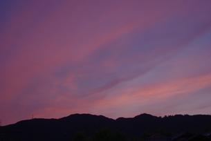 ピンクの雲の写真素材 [FYI00323575]