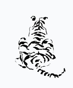 虎の背中の写真素材 [FYI00323608]