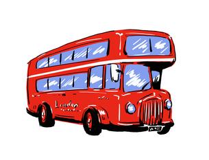 ロンドンバスの写真素材 [FYI00323609]