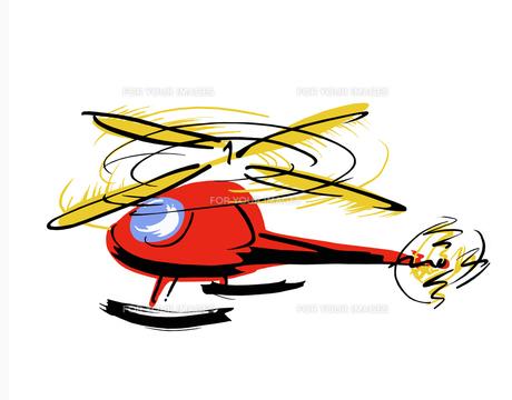 赤いポップなヘリの写真素材 [FYI00323630]