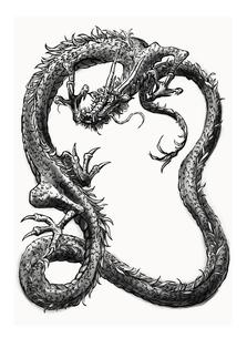 ドラゴン水墨画の素材 [FYI00323645]