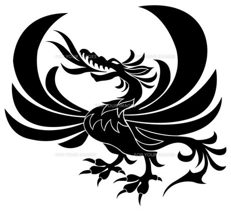 翼をもつドラゴンの写真素材 [FYI00323649]
