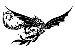 空飛ぶドラゴンの写真素材 [FYI00323667]