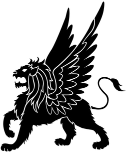 翼をもつライオンの写真素材 [FYI00323673]