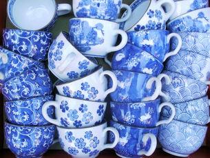 どこかなつかしい和柄のコーヒーカップの素材 [FYI00324785]
